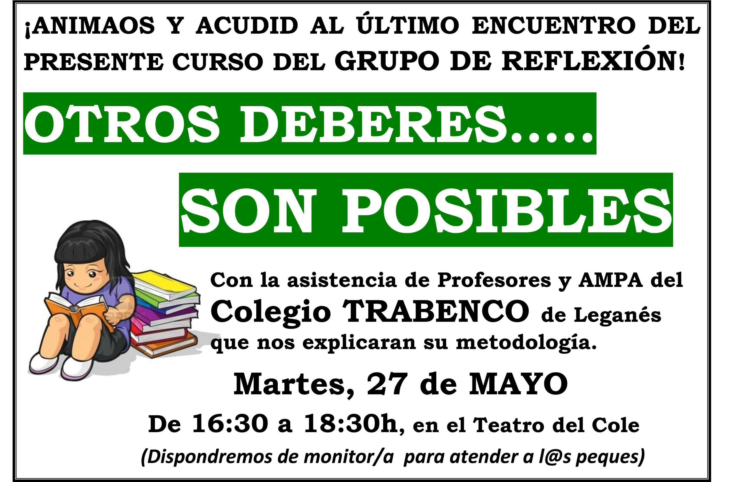 """Otros deberes… son posibles"""", martes 27 de mayo de 16:30 a 18:30h en ..."""