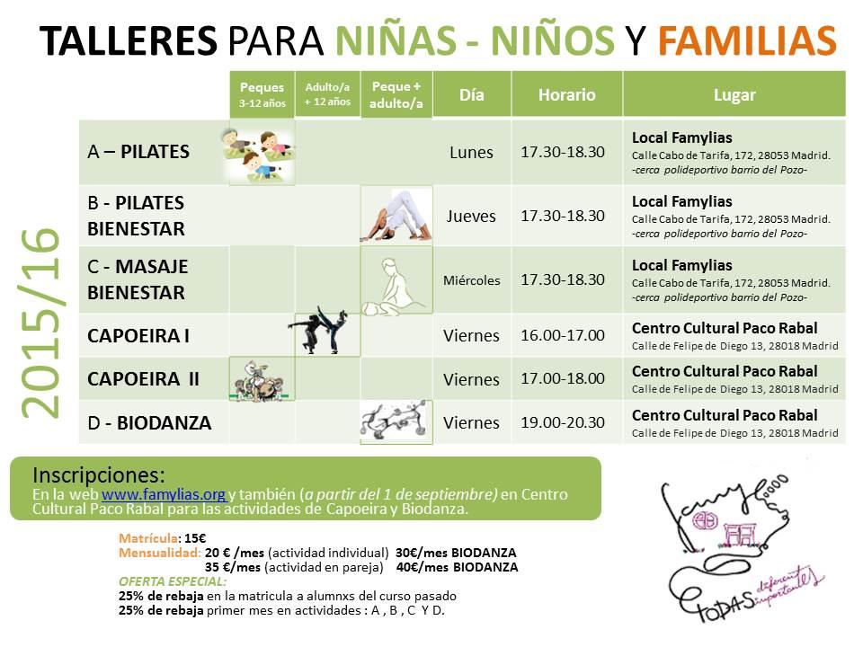 Talleres para ni as ni os y familias ampa juan gris for Cursos de cocina para ninos madrid