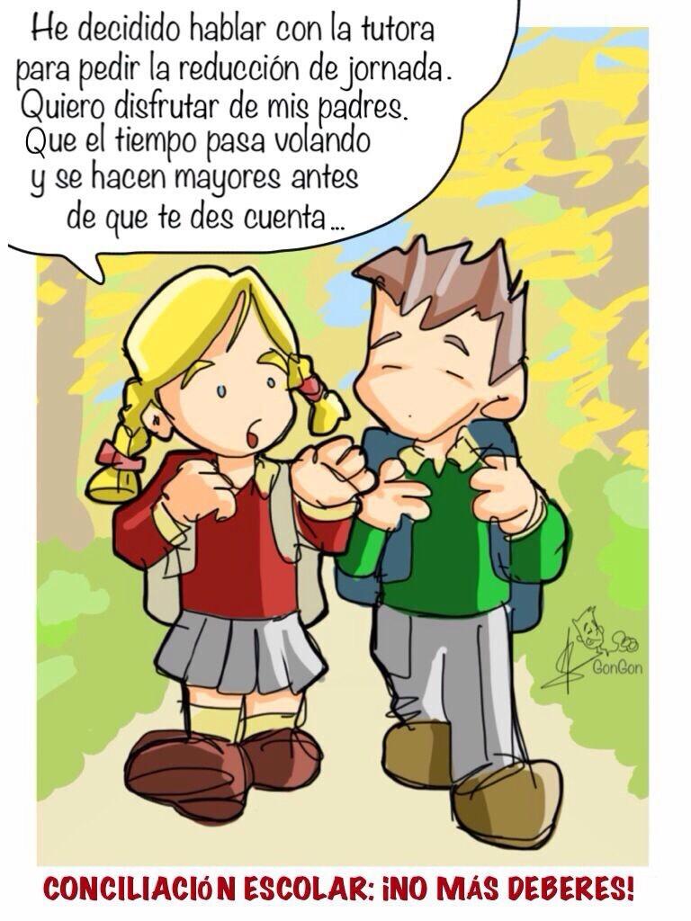 No más deberes: viñeta y blog | AMPA Juan Gris
